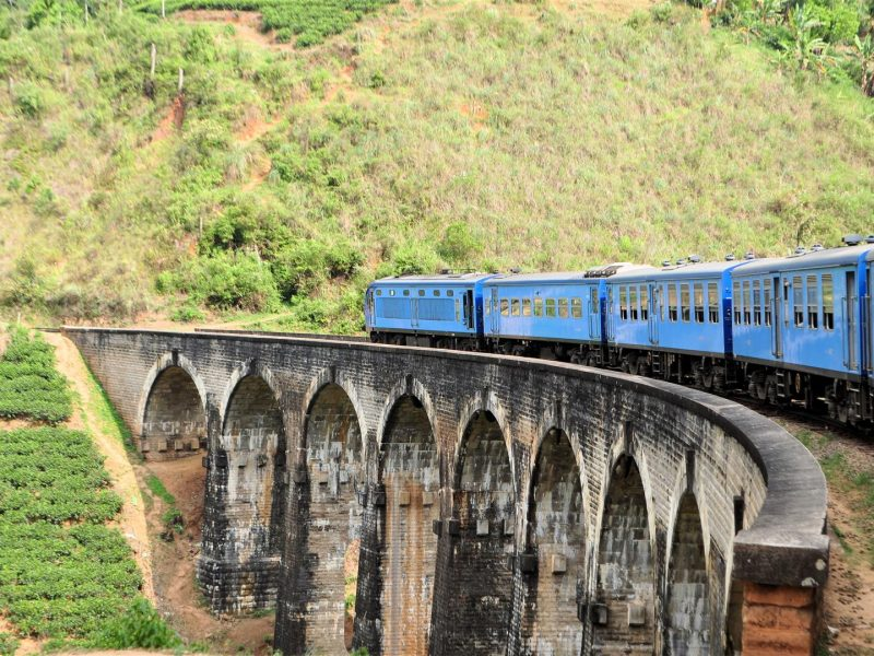 Train viaduct Hill Country sri lanka