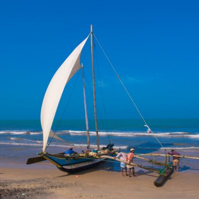 boat beach negombo sri lanka