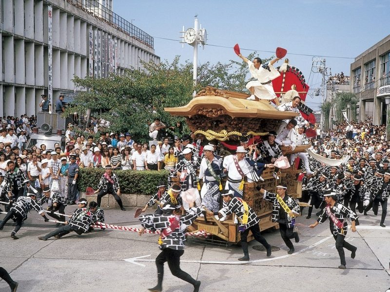 Festival parade float Danjiri Osaka Japan