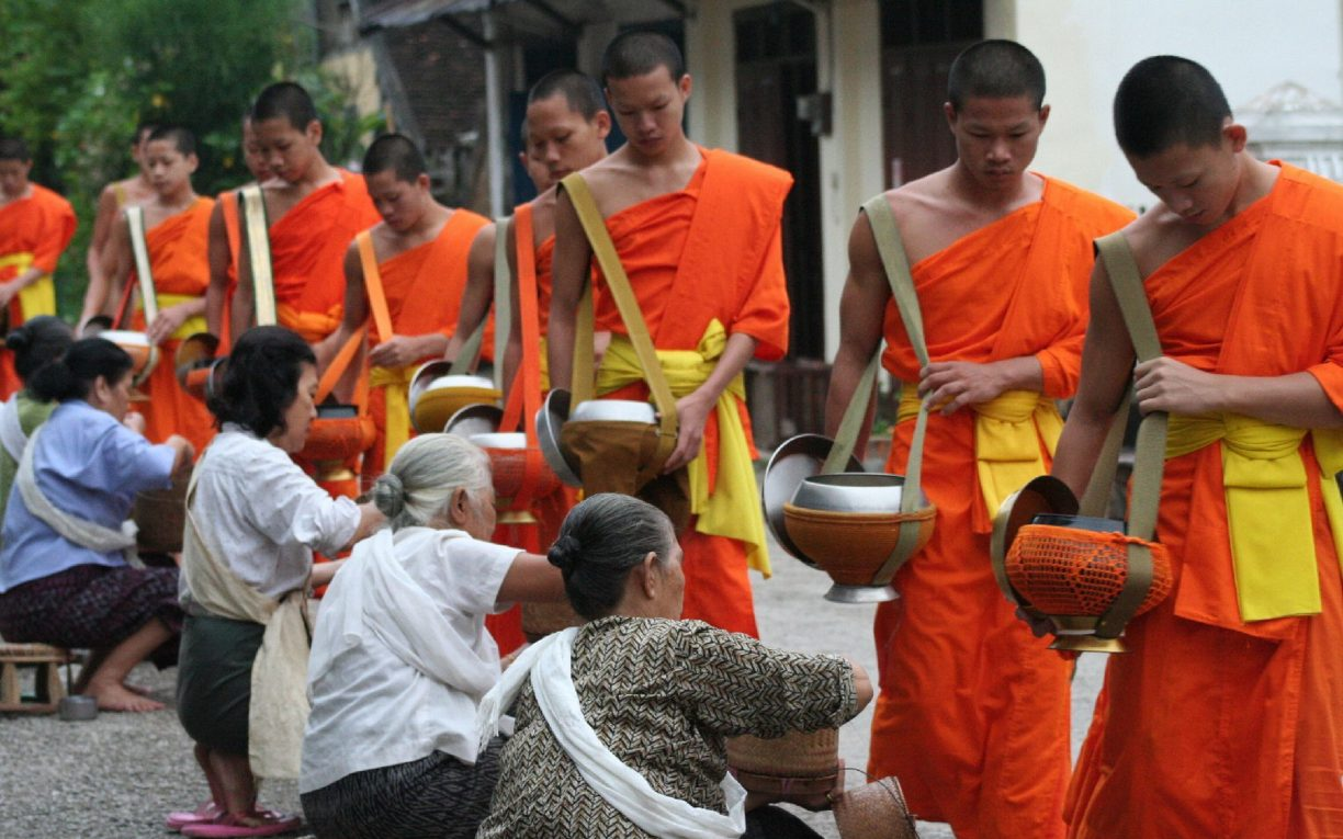 Monks Luang Prabang Laos