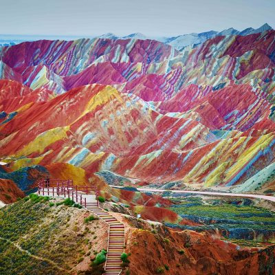 Mountains Zhangye Danxia Landform China 1