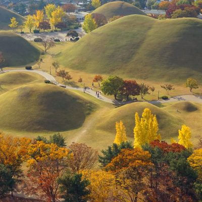 Royal Tombs Gyeongju South Korea