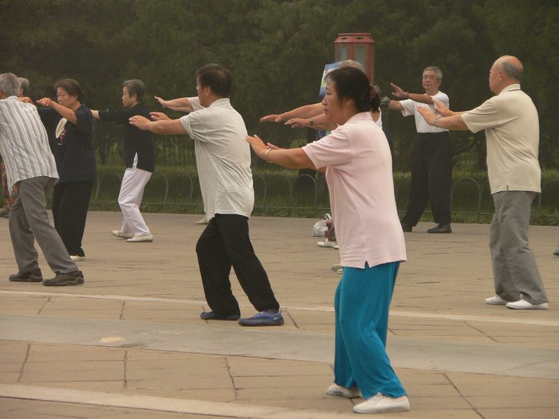 Tai Chi Practise temple of heaven Beijing china