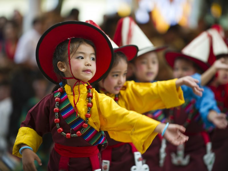 children tibet festival china
