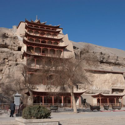 dunhuang city view china
