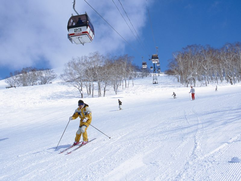skiing snow ski lift Niseko japan