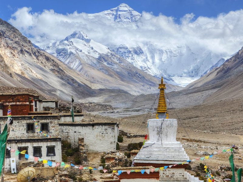 Rongbuk Monastery Everest Tibet China