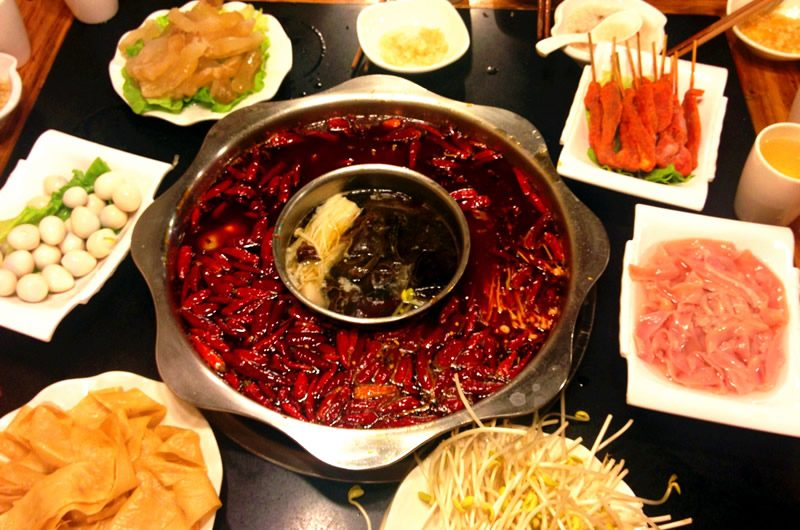 spicy hot pot chengdu china