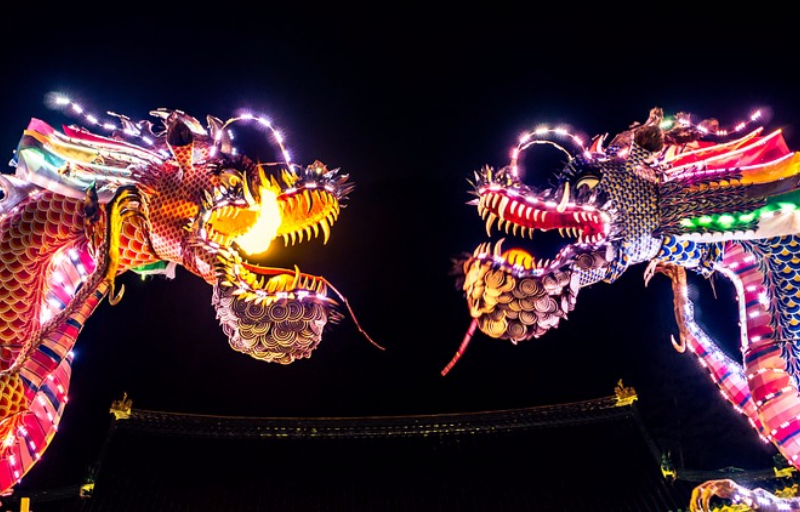 festival dragons china