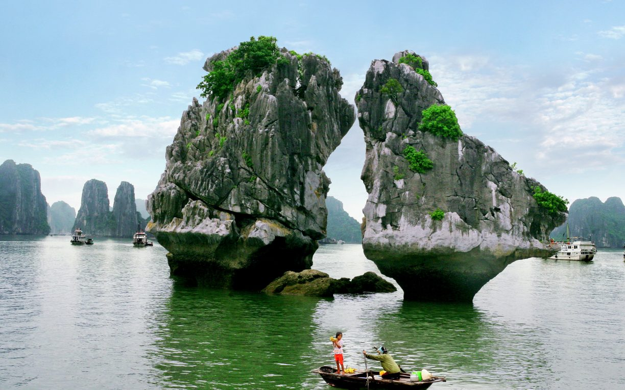 Ga Choi Islet in Halong bay Vietnam