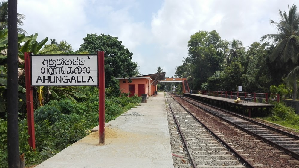 Ahungalla railway station sri lanka