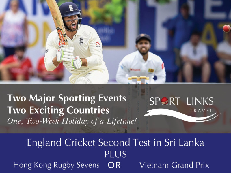 Cricket Sri Lanka plus Hong Kong Rugby Seven or Vietnam Grand Prix