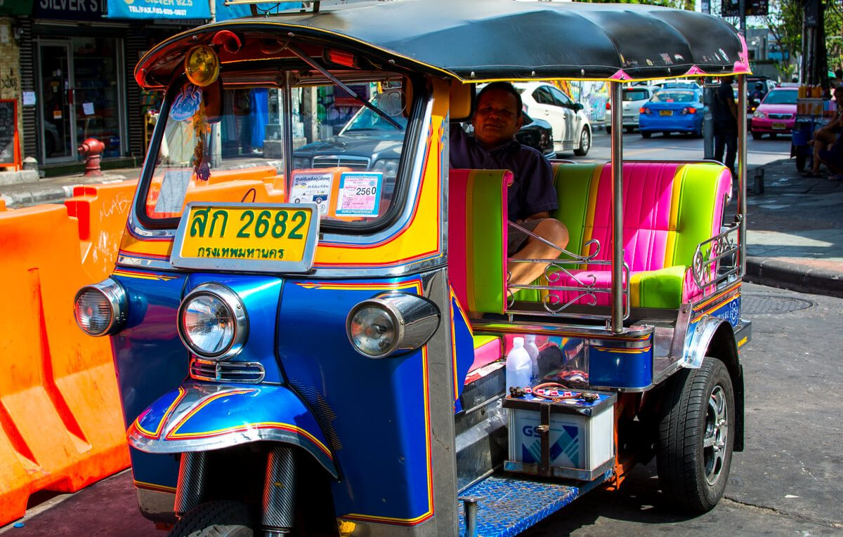 day explore by tuktuk bangkok thailand