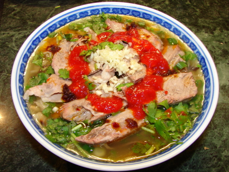 Paomo Lamb Pita soup xian china